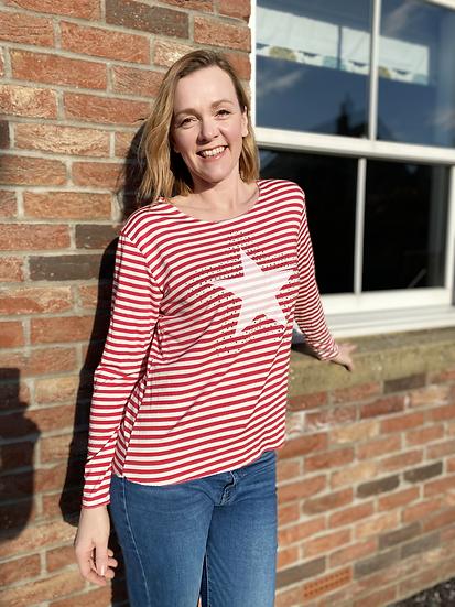 Liv Striped Star top