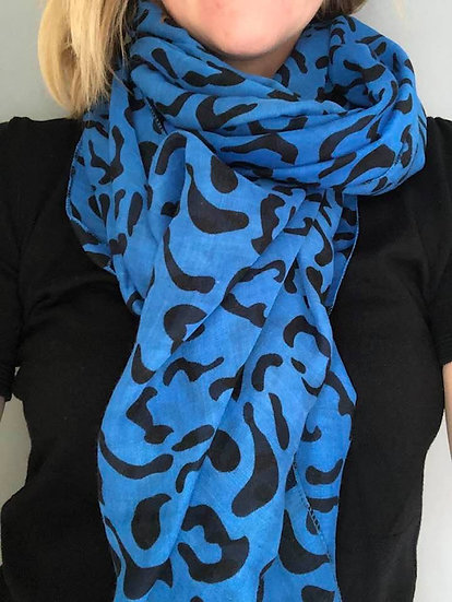 Safari Blue Print Scarf