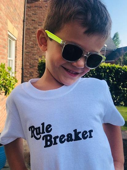KIDS Rule Breaker slogan T-shirt White