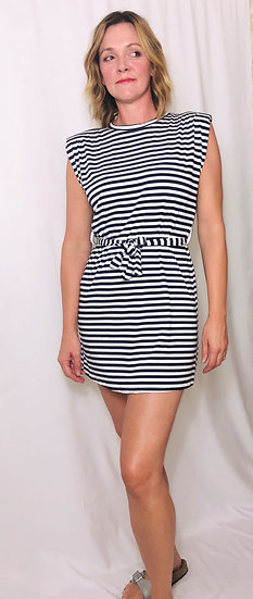 Italia Striped belted dress