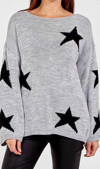 Rimini Star Jumper Grey/Black