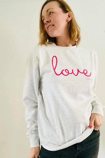 LOVE  Bluestar Sweatshirt in Grey