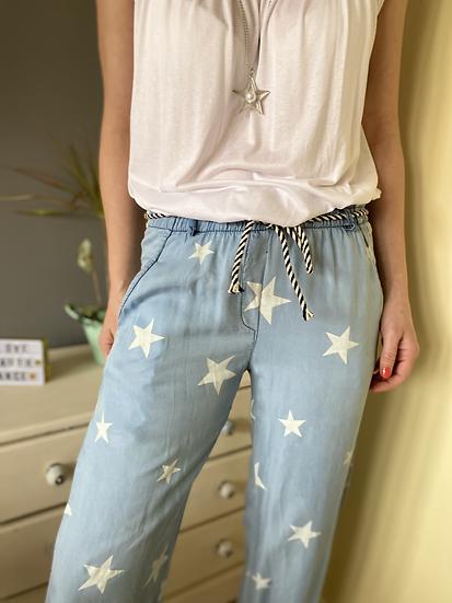 Light Denim Star trousers