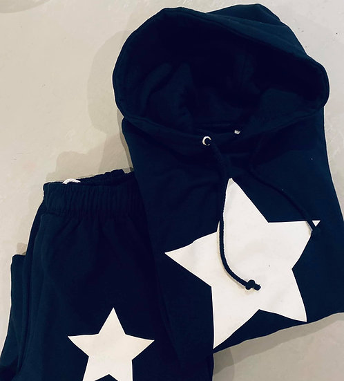 Star Bum Jogger set in Navy