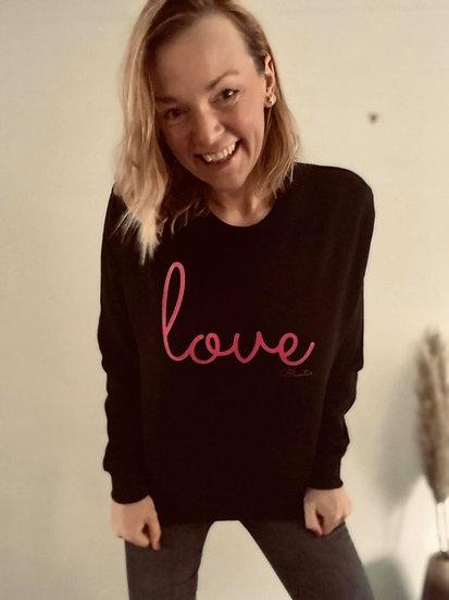 LOVE  Bluestar Sweatshirt in Black