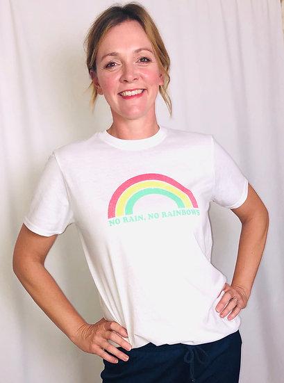 No Rain No Rainbows oversized  T-shirt