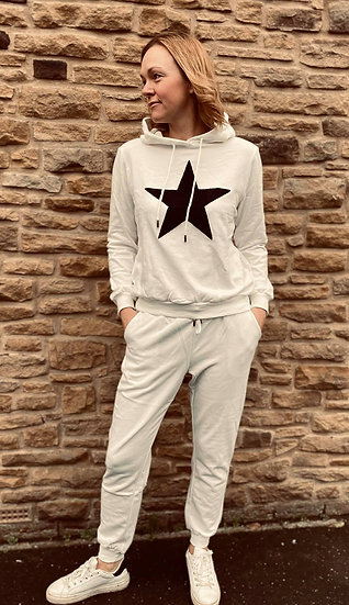 Star Jogger set in White, Grey and Black