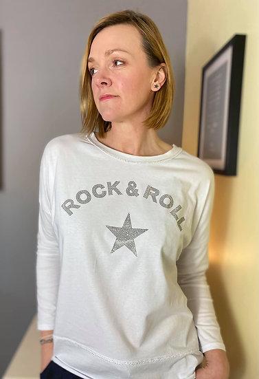 Rock N Roll Top in White
