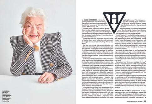 Hazel McCallion / Cover Feature