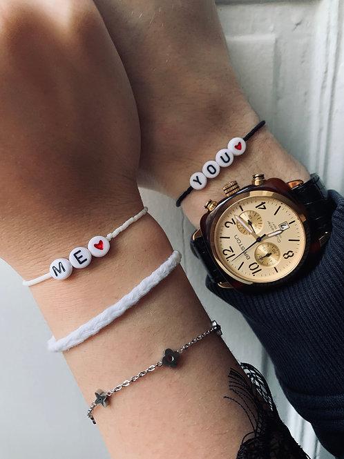 "Bracelets ""YOU & ME"" Saint-Valentin"
