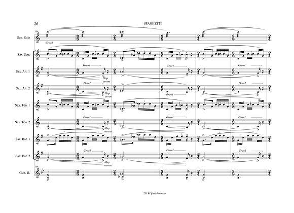 PASTA CONCERTO Ensemble de saxophones