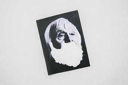 David Bernstein. John Baldessari,  from an artist's collection of artists' beards. 2012-ongoing.