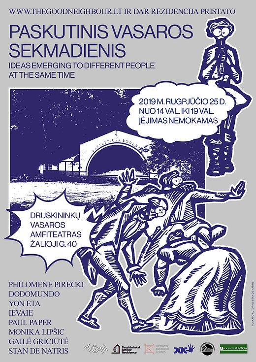Stan de Natris plakatas renginiui Druski