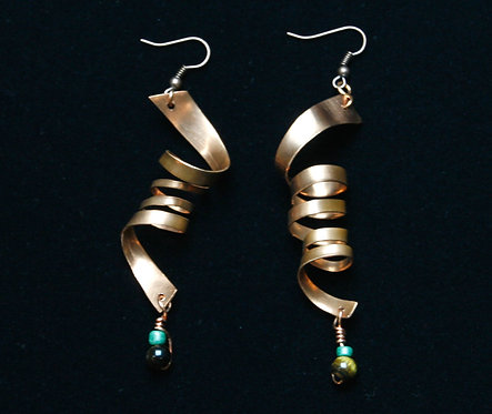 Copper Swirl Earrings II