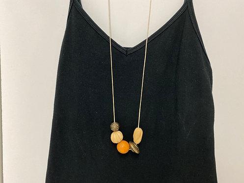Chunky Large Orange Ball Necklace