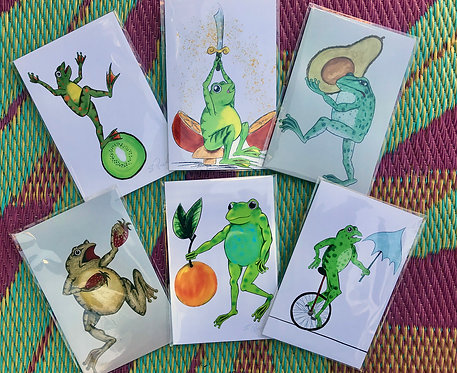Frog Day Afternoon 4 card set