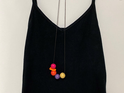 Chunky Color Ball Necklace