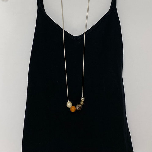 Chunky Small Orange Ball Necklace