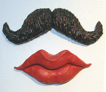 Lips and Moustache