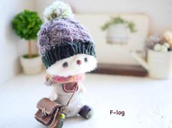 ニット帽:模様編み