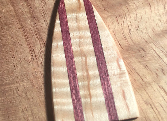 Flame Maple with Purple Heart Stripes Truss Rod Cover