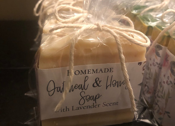 Honey Oatmeal Soap scented in Lavender