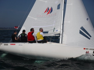 B1s sailing upwind