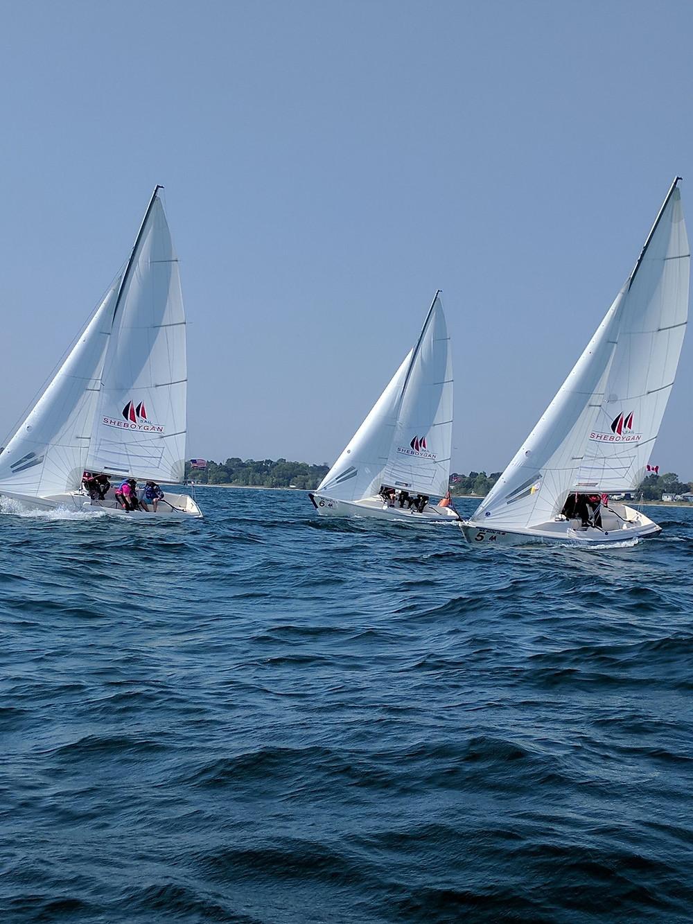 B2 fleet heading upwind