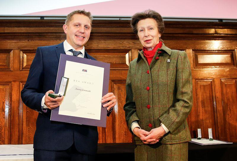 Jonny Cormack receiving award from HRH Princess Anne