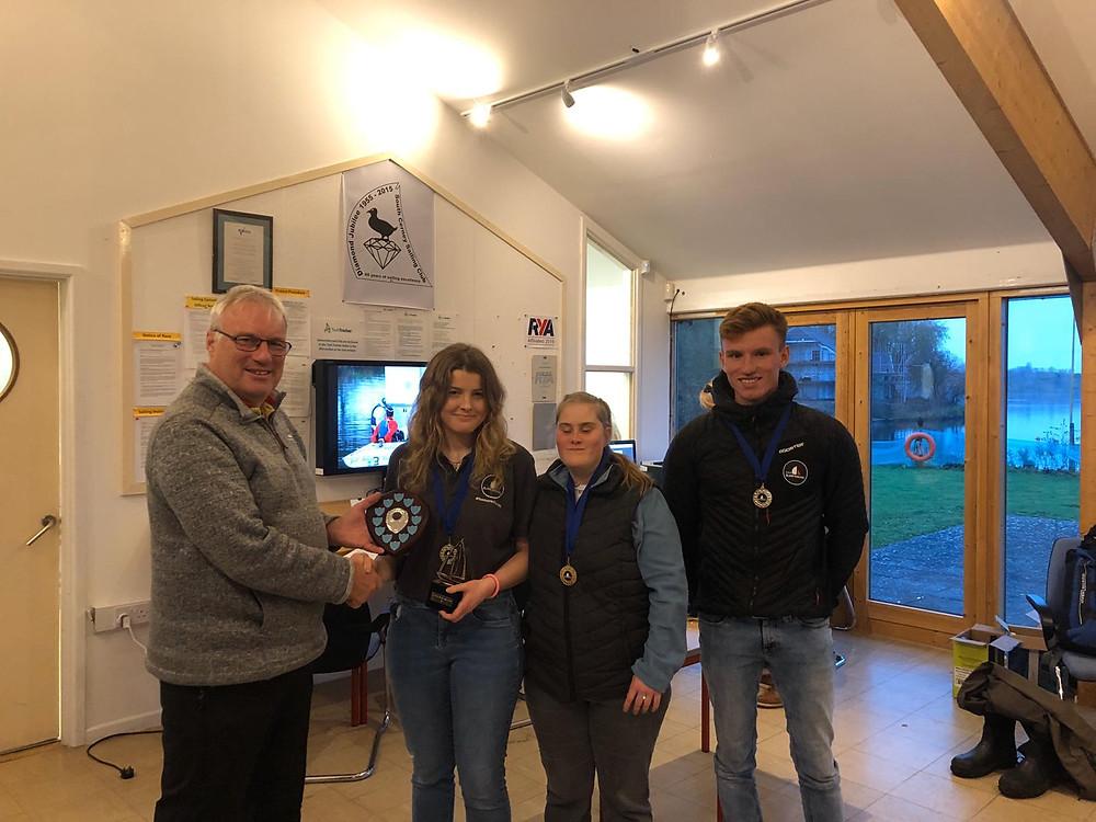 Overall winners Kate, Ben, Charlie 2019