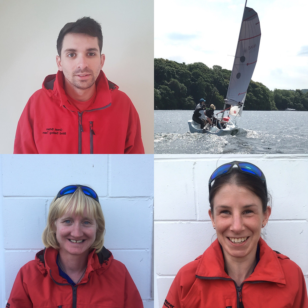 GBR Team A, Liam, Lucy, Sharon and then one of them sailing together