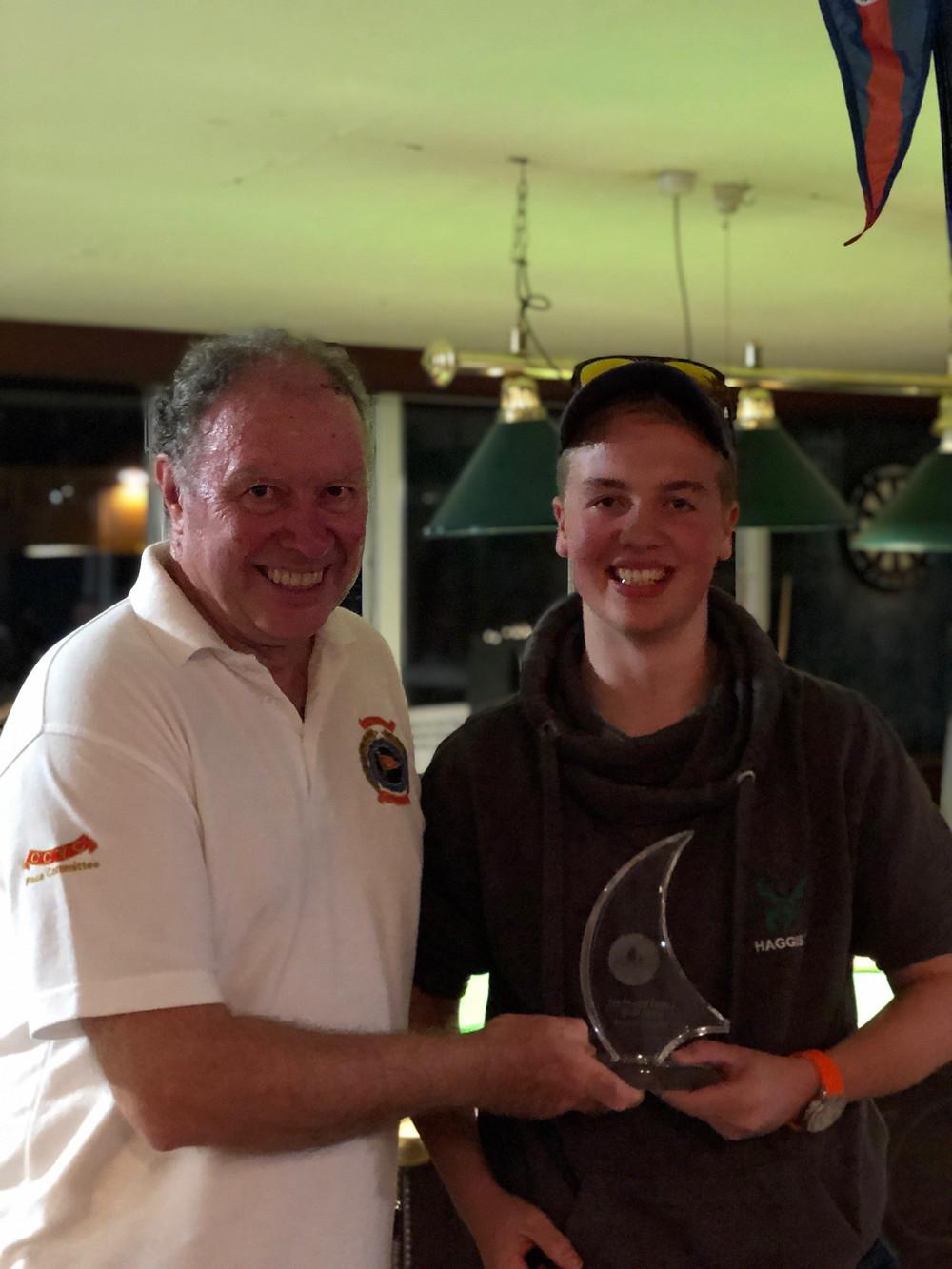 Will Morris recieving youth award.