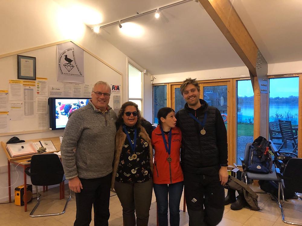 B1 Catorgy winners Sally, Sharon Jonny S