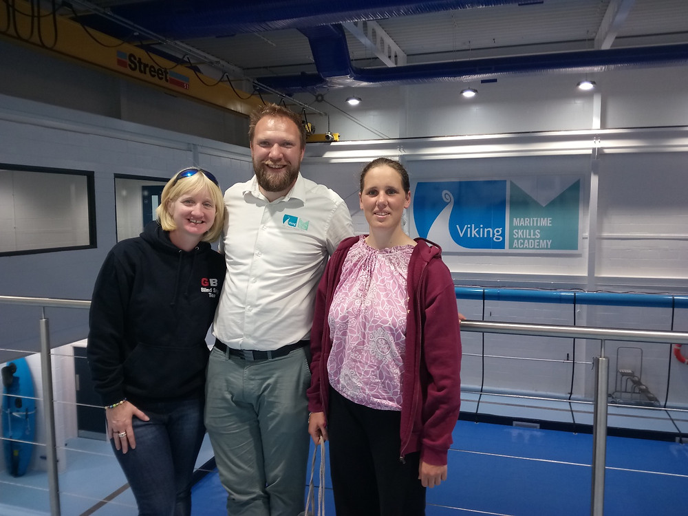 Lucy and Catherine at Maritime Skills Accademy.