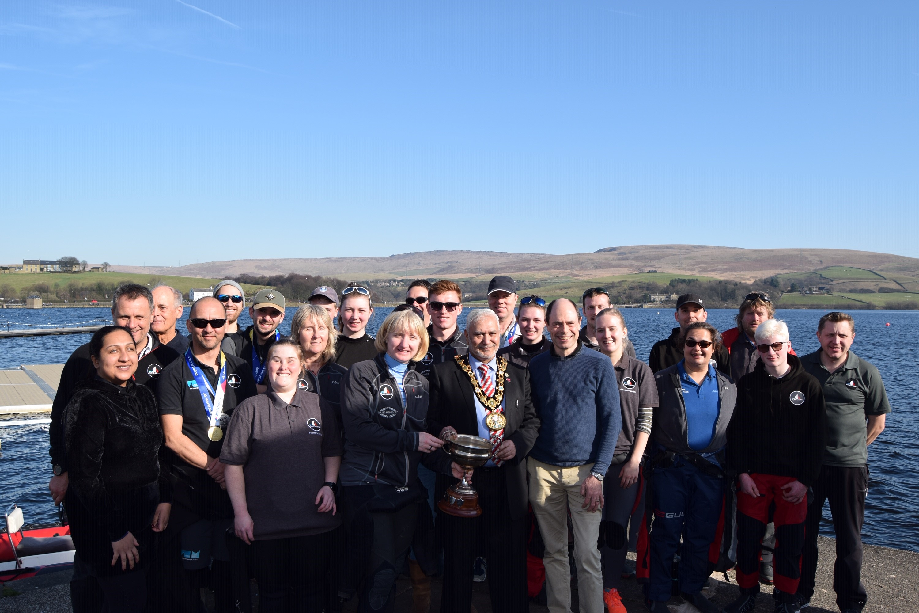 Team at Hollingworth Lake.