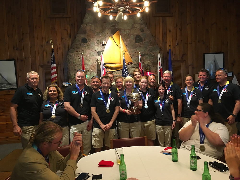 GBR Team with Squadron Cup 2017, USA Blind Fleet Racing World 2017.