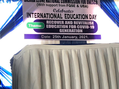 Recognising International Day of Education in Sierra Leone