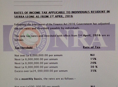Finance Act 2016 - Income Tax amendments