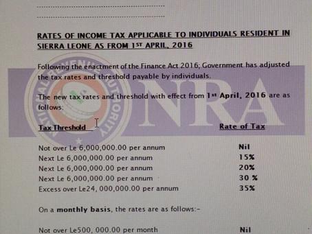 Finance Act 2016 - Income Tax amendments