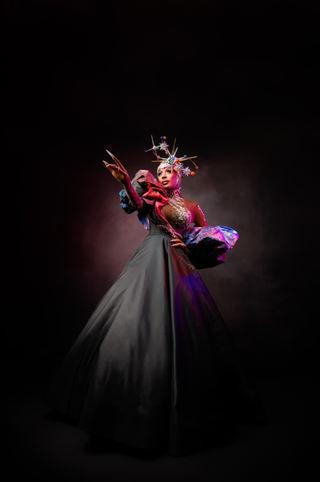 Jaida Hall Joshuan Galaxy Costume fittin