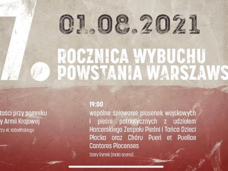 Obchody 77. Rocznicy wybuchu Powstania Warszawskiego.