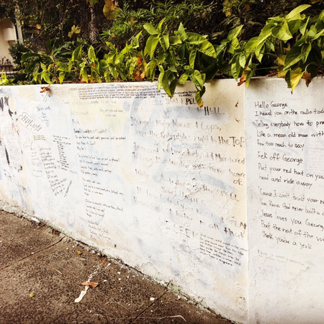Newtown Poetry Wall and Southern Hemisphere Farewells.