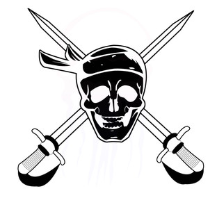 Pirate Swing stencil for event flag Year 4 - 2013