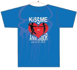 KissME in Ann Arbor T-shirt design front Year 5 - 2013