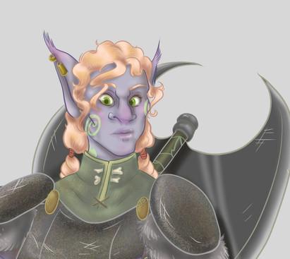 Kudzu Character Portrait 2020 - Face Detail