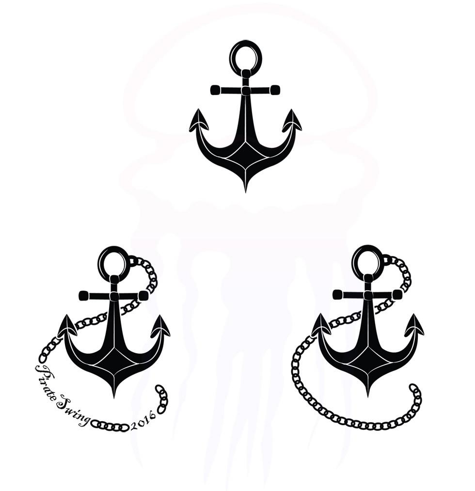 Pirate Swing logo - variations - Year 7 - 2016