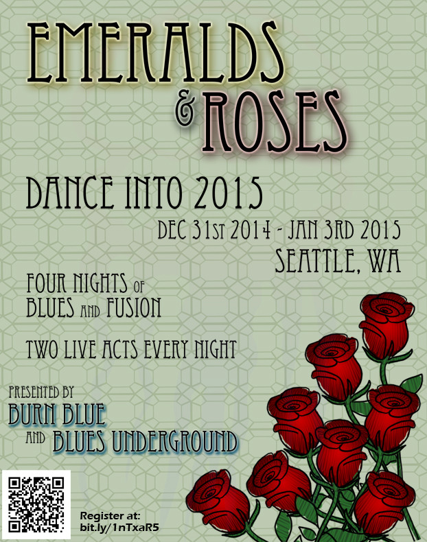 Emeralds and Roses Postcard - 2014