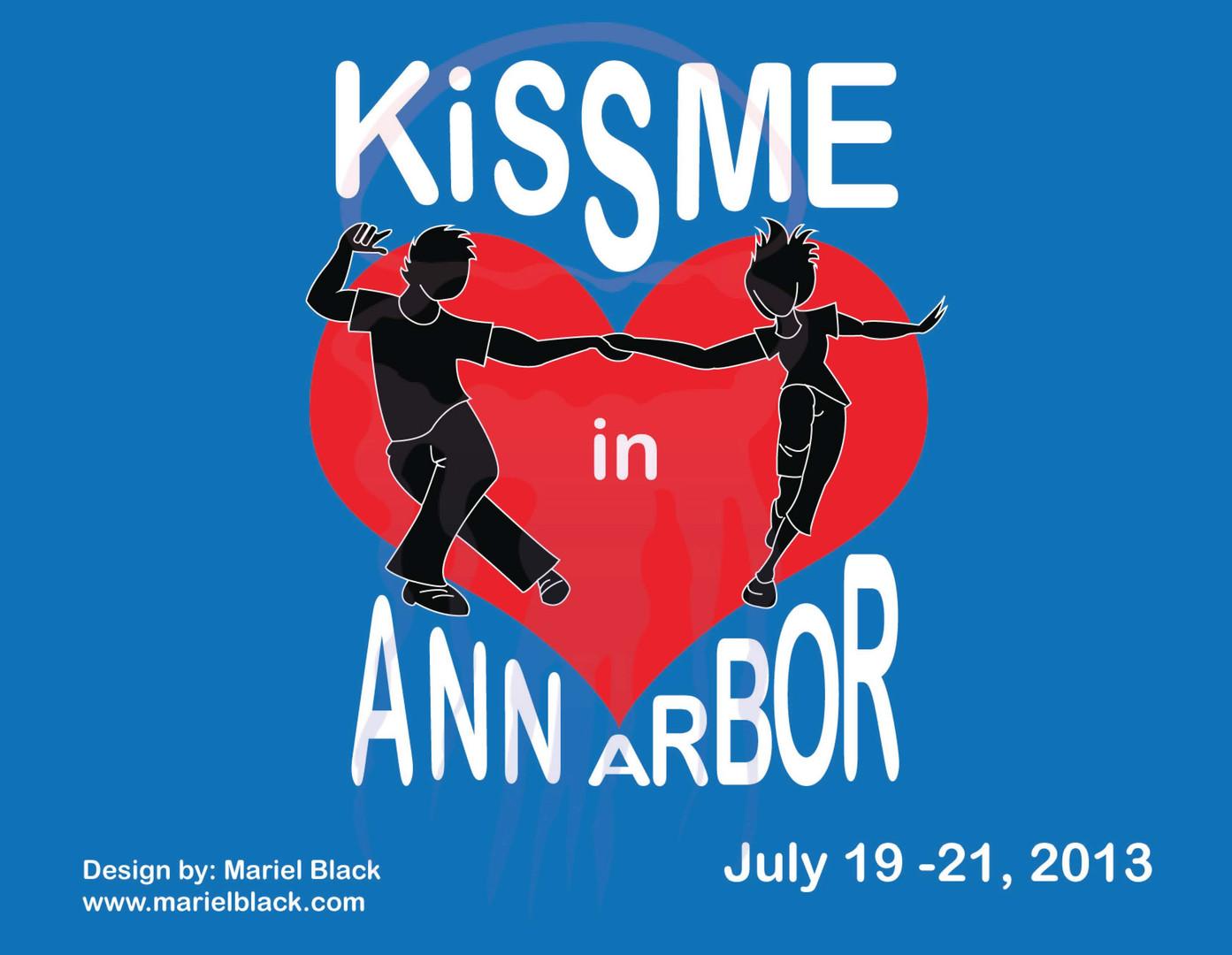 KissME in Ann Arbor Postcard design front Year 5 - 2013