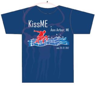KissME in Ann Arbor T-shirt Design Year 4 - 2012