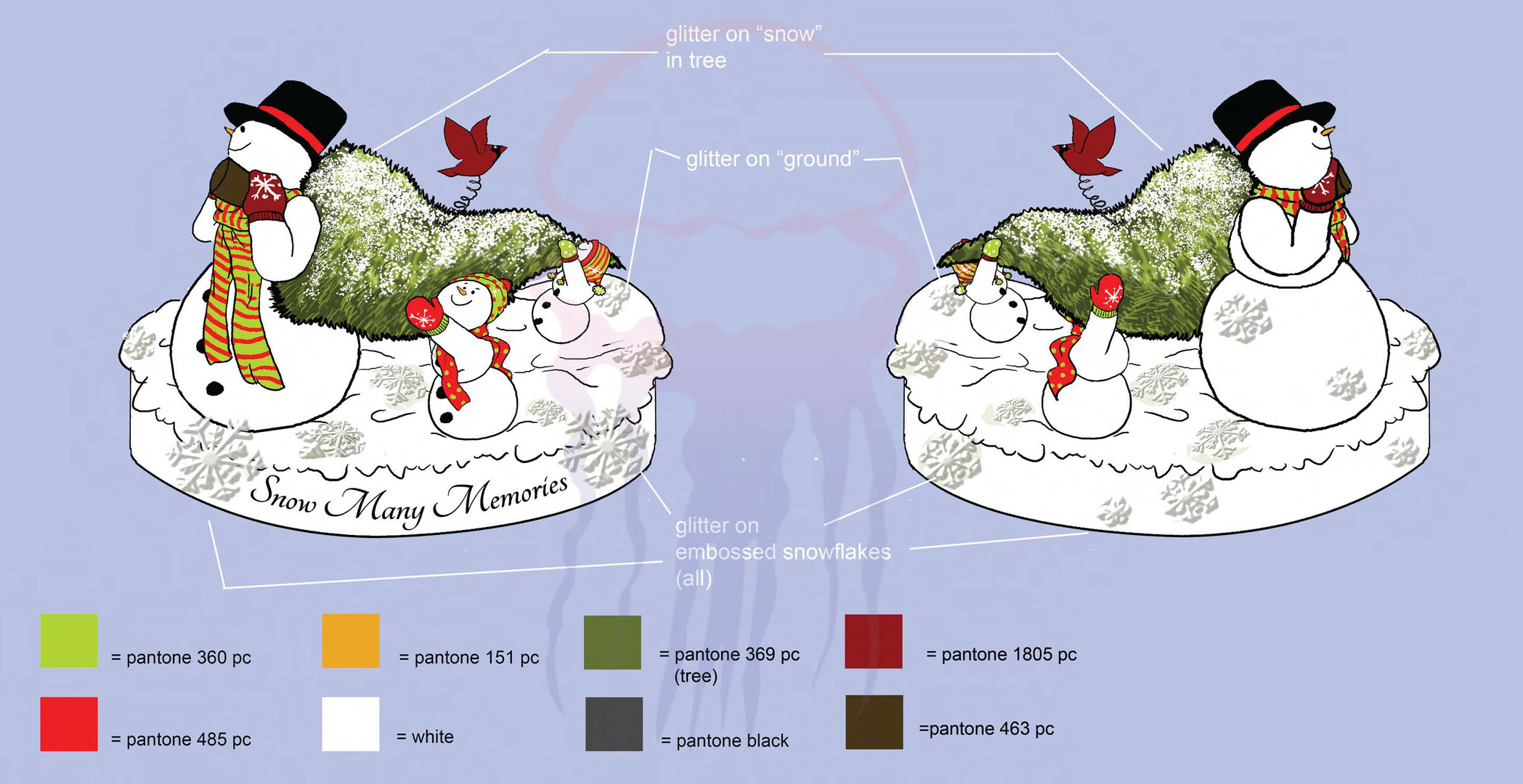 Snowman Figurine Design for Youngs Inc - 2011